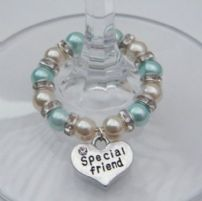 Friendship Wine Glass Charms